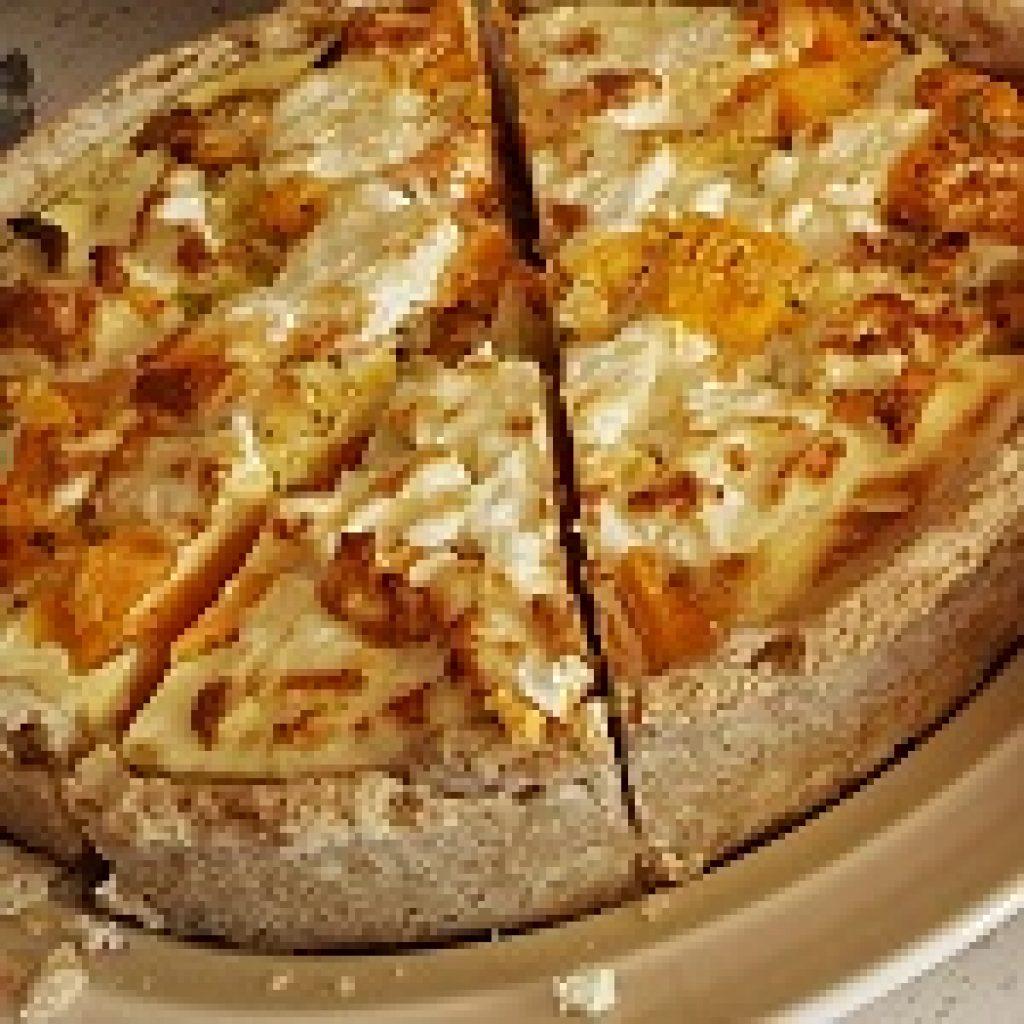 Sweet potato and feta quiche
