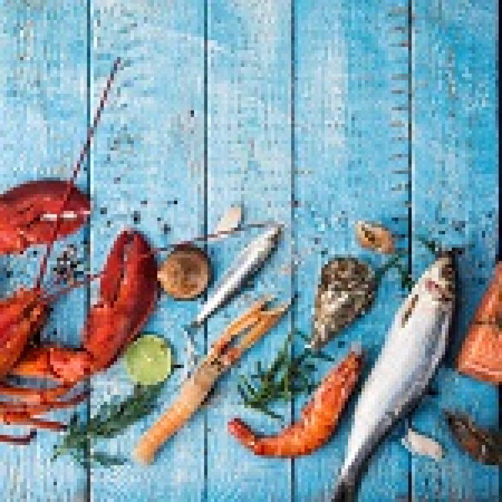 A selection of fish and shellfish
